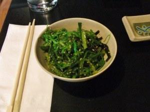 Hamachi House: wakame salad