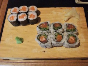 Hamachi House: salmon roll and Halifax roll