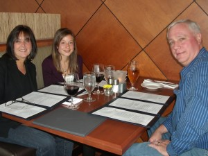 Spencer's at the Waterfront birthday family dinner