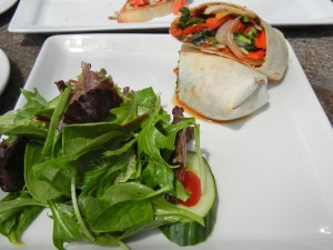 Martini House Burlington, Ontario: vegetable wrap