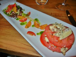 Red Canoe Bistro: heirloom tomato and artisan cheese salad