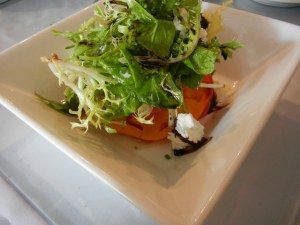Garlic's of London heirloom tomato salad with goat cheese