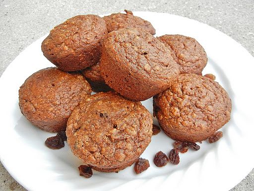 Spiced sweet potato muffins