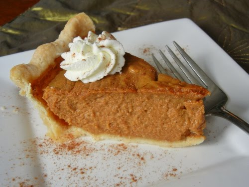 Lightened up pumpkin pie