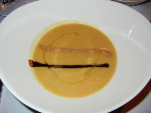 Blacktree restaurant - rutabaga soup with bosc pear puree