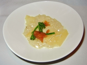Blacktree restaurant - sunchoke risotto with Parmesan cheese