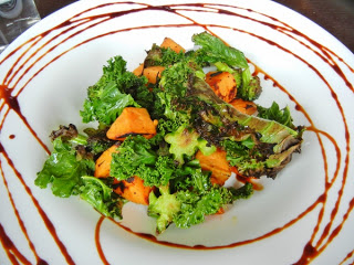 Morris East - roasted wood-fired sweet potato, kale, and broccoli