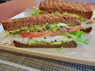 Organic Works - turkey sandwich on gluten free bread