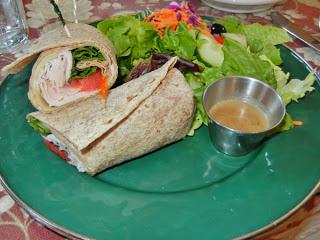 The Courtyard Cafe - turkey wrap