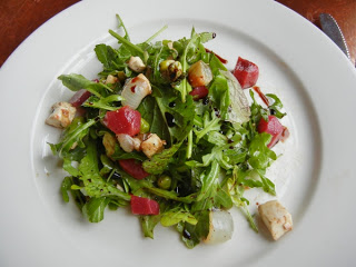 Fore Street Restaurant - beet and house made mozzarella salad