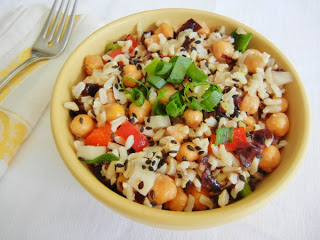 Roasted chickpea salad