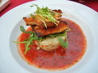 Paradiso restaurant Burlington trout quinoa gazpacho