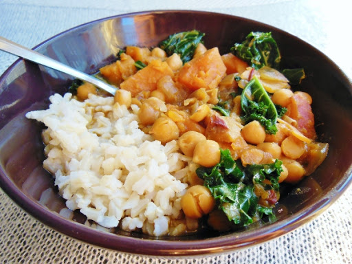 African chickpea stew