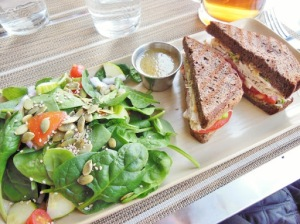 Organic Works Bakery Cafe - turkey sandwich on gluten free bread