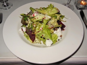 Garlic's of London - beet and chevre salad