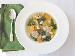 White bean, turkey sausage, and kale soup