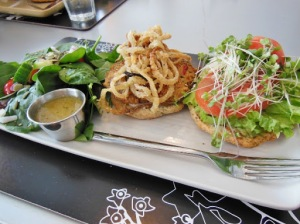 Organic Works Bakery Cafe London, Ontario - veggie burger