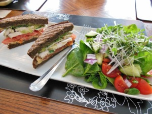Organic Works London, Ontario - turkey sandwich on buckwheat bread