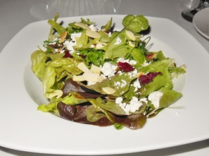 Garlic's of London local greens with dried cranberries and feta