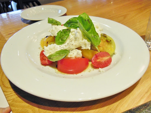 Tomato and buffalo mozzarella salad from Fabbrica restaurant