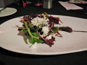 Tru Restaurant and Lounge London - beet and goat cheese salad