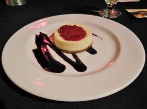 Tru Restaurant and Lounge London - vanilla cheesecake
