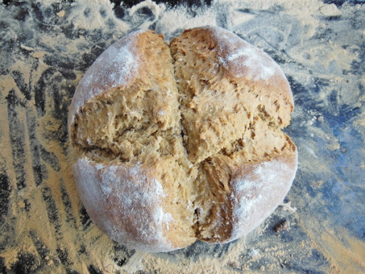 Whole wheat oatmeal Irish soda bread