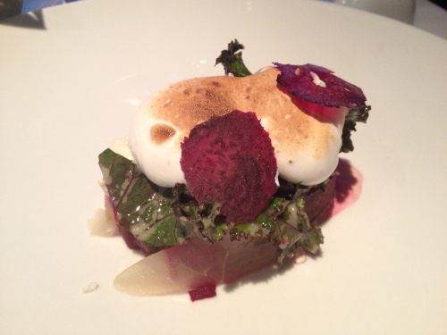 Blacktre beet terrine with goat cheese
