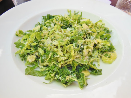 The Owl House - shaved Brussels sprout and kale salad