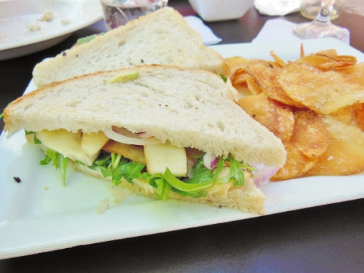 The Owl House - brie cheese and apple panini