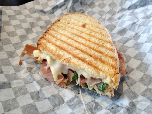 Prosciutto panini from Fresh N Wolfe