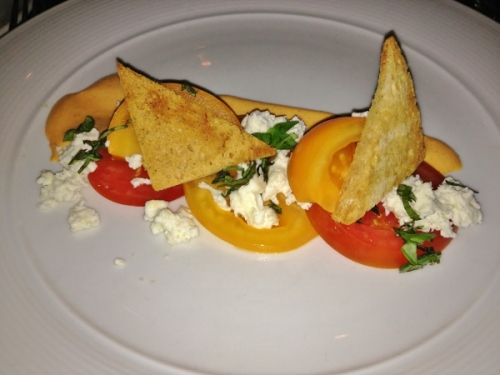 earth Rosedale tomato salad