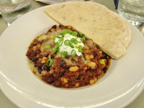 Bannock restaurant venison chili